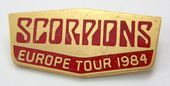 Scorpions - 'Europe Tour 1984' Enamelled Metal Lapel Badge